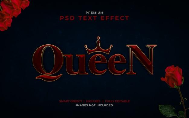 Maquette d'effet de texte psd queen