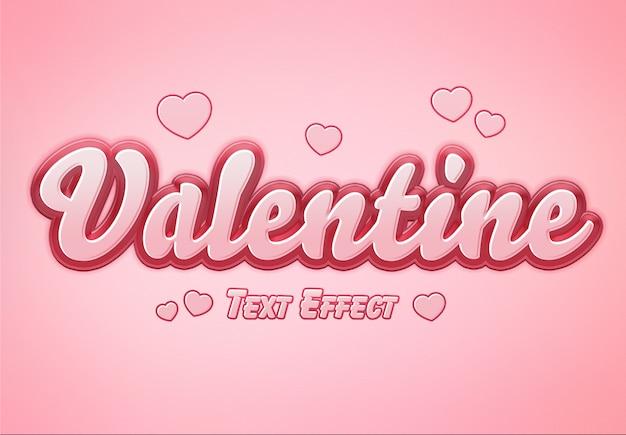 Maquette d'effet de texte saint valentin