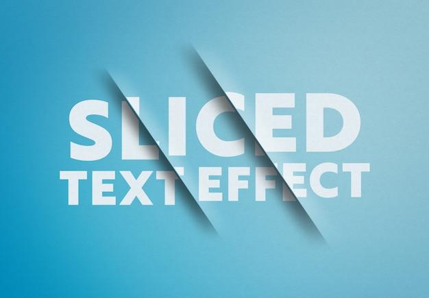 Maquette d'effet de texte en tranches