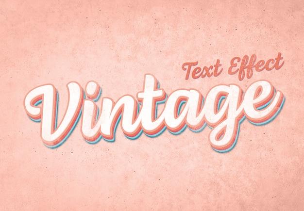 Maquette d'effet de texte vintage