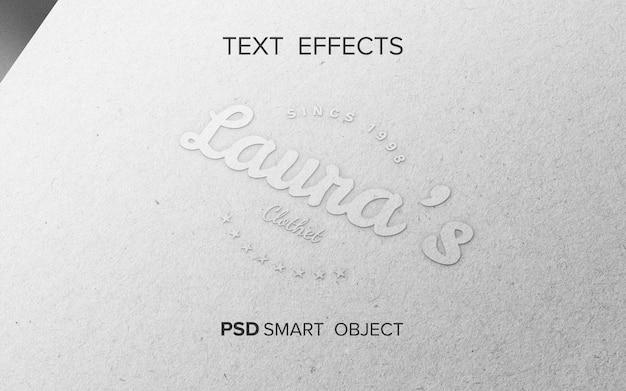 Maquette d'effet de texte
