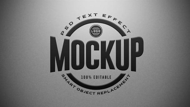 Maquette d'effets de texte modifiables en 3d