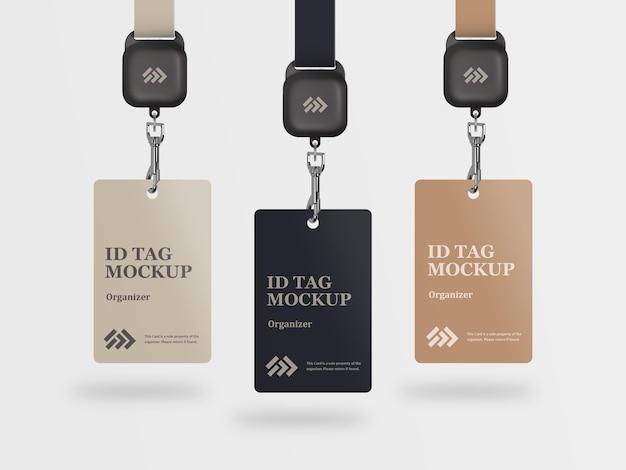 Maquette élégante de carte d'accès d'identification d'entreprise avec des étiquettes