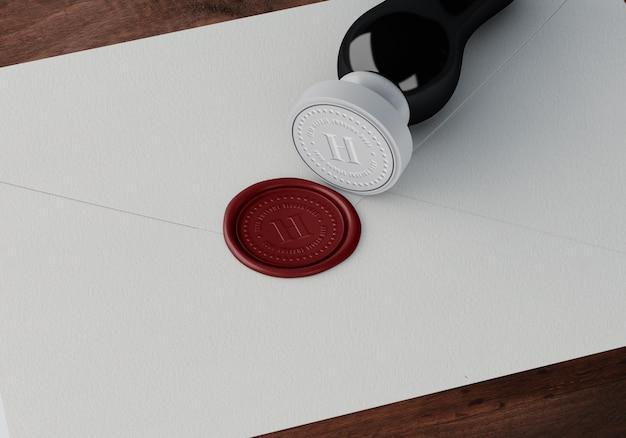 Maquette élégante de timbres ou insignes