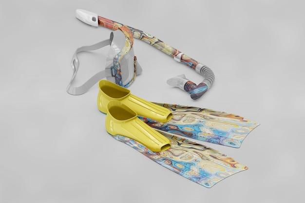 Maquette d'éléments de plongée sous-marine