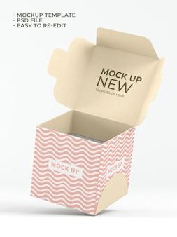 Maquette d'emballage alimentaire de cube