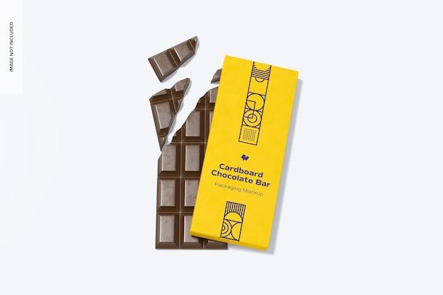 Maquette d'emballage de barre de chocolat en carton
