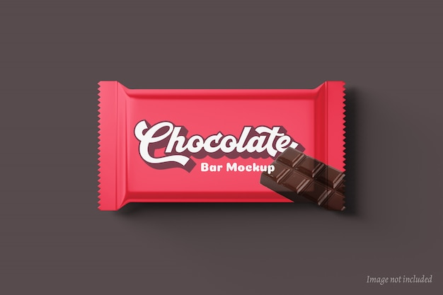 Maquette d'emballage de barre de chocolat