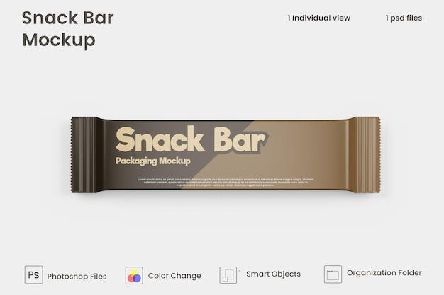 Maquette d'emballage de barre de collation au chocolat premium psd