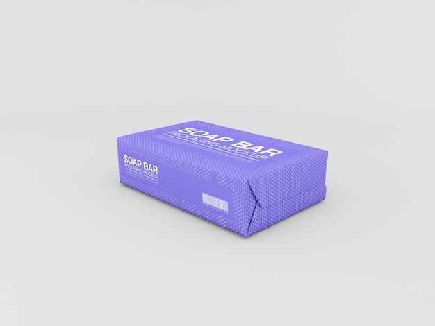 Maquette d'emballage de barre de savon