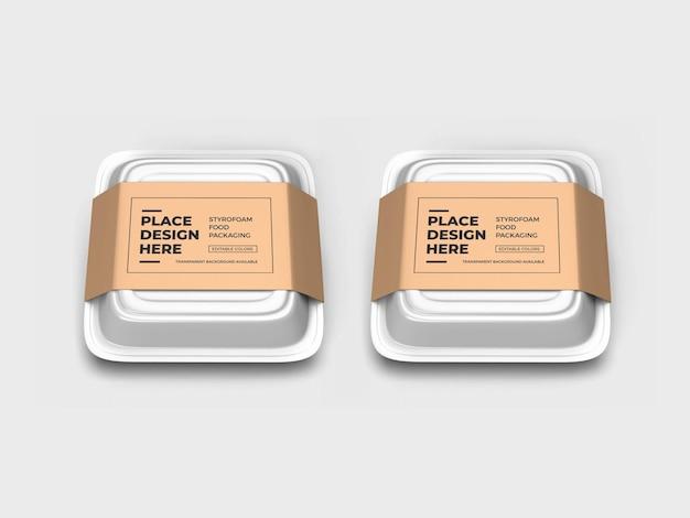 Maquette d'emballage de boîte alimentaire en polystyrène