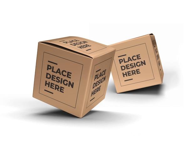 Maquette d'emballage de boîte carrée