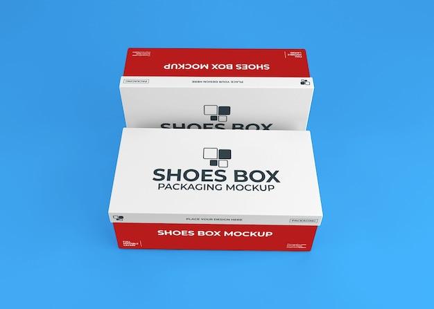 Maquette d'emballage de boîte de chaussures réaliste
