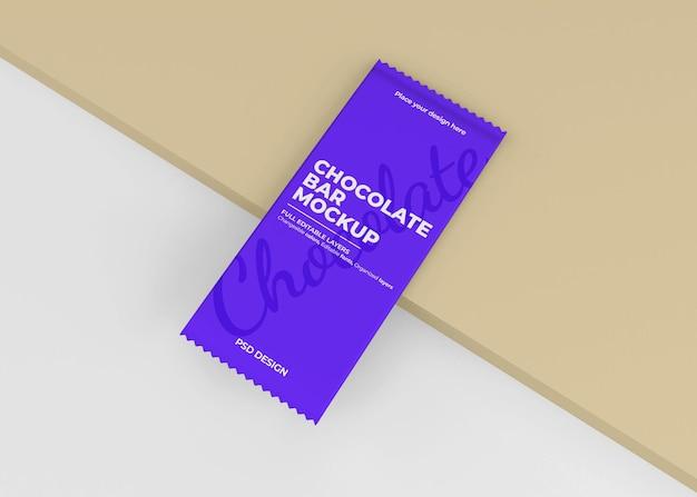 Maquette d'emballage de boîte de chocolat dans le rendu 3d