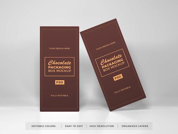 Maquette d'emballage de boîte de chocolat réaliste