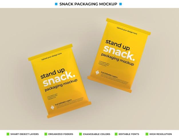 Maquette d'emballage de boîte à collations dans le concept de produit