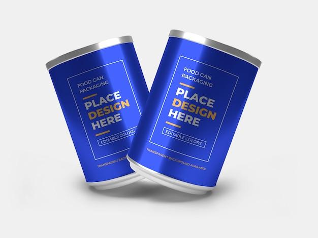 Maquette d'emballage de boîte de conserve en aluminium