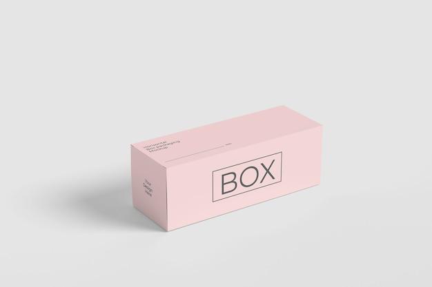 Maquette d'emballage de boîte horizontale