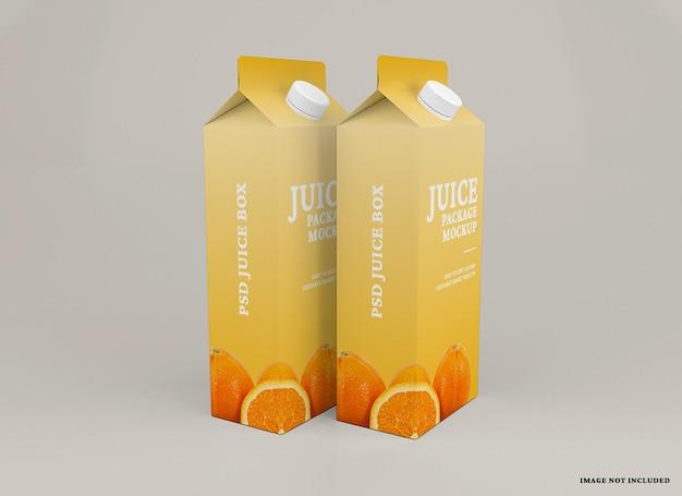 Maquette d'emballage de boîte à jus