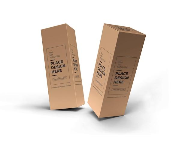Maquette d'emballage de boîte longue
