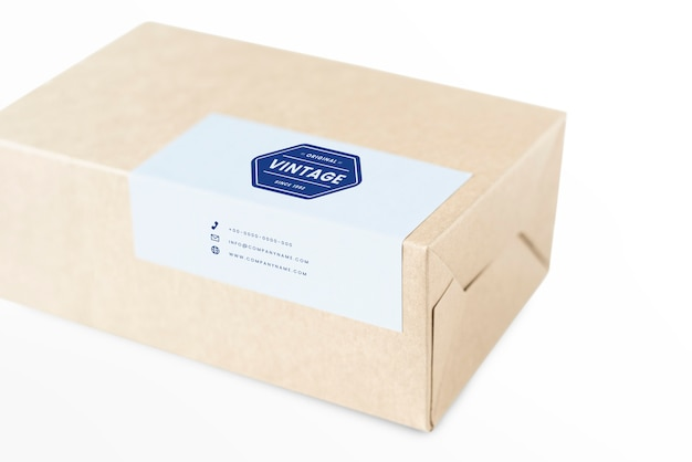 Maquette d'emballage de boîte en papier naturel