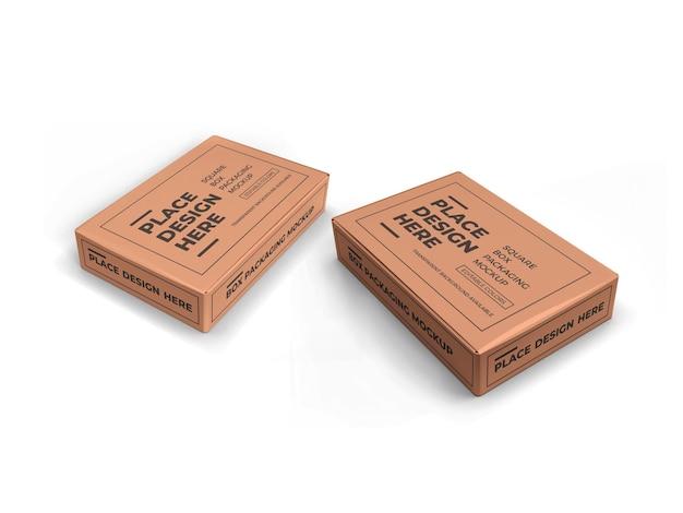 Maquette d'emballage de boîte rectangulaire