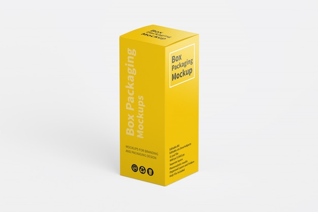 Maquette d'emballage de boîte verticale