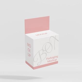 Maquette d'emballage de boîte volante