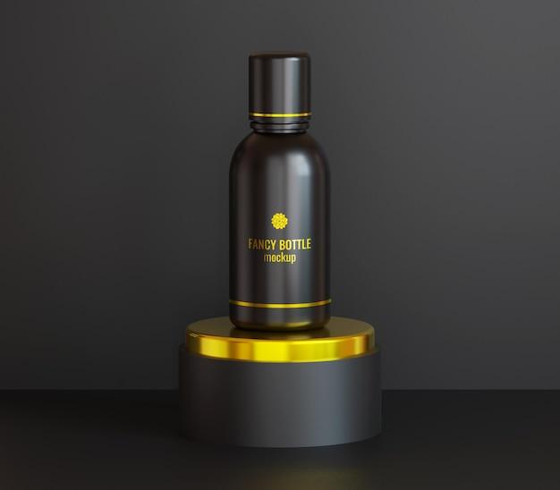 Maquette d'emballage de bouteille de cosmétiques fantaisie