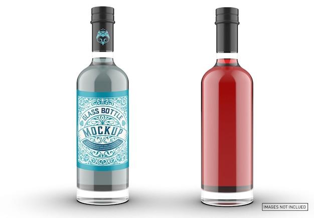 Maquette d'emballage de bouteille de gin coloré