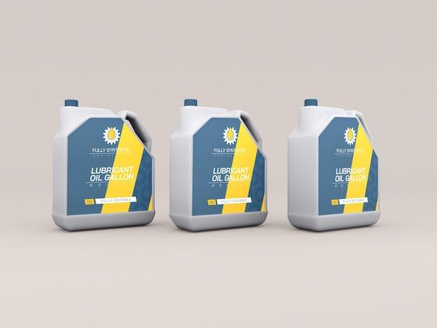 Maquette d'emballage de bouteille en plastique d'huile moteur