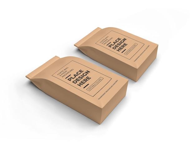 Maquette d'emballage de café et de sac alimentaire