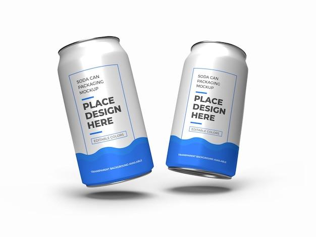 Maquette d'emballage de canette de soda