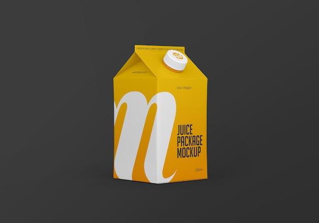 Maquette d'emballage de carton de jus mat