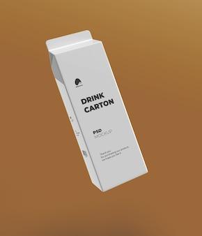 Maquette d'emballage de carton de lait