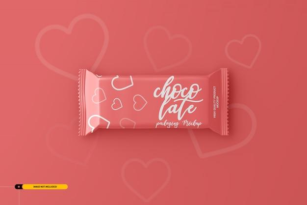 Maquette d'emballage de casse-croûte au chocolat