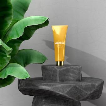 Maquette d'emballage cosmétique pour la conception de la marque