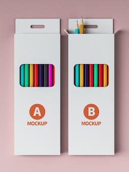 Maquette d'emballage de crayon de couleur