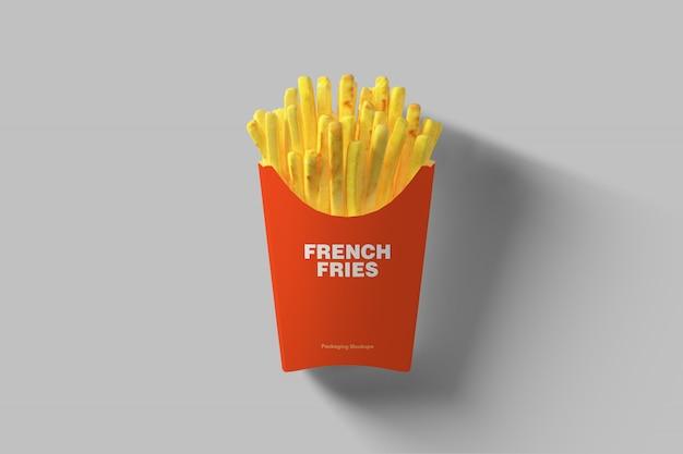Maquette d'emballage de frites