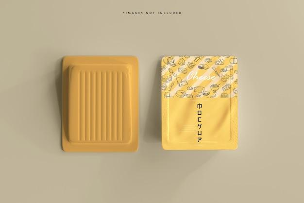 Maquette d'emballage de fromage