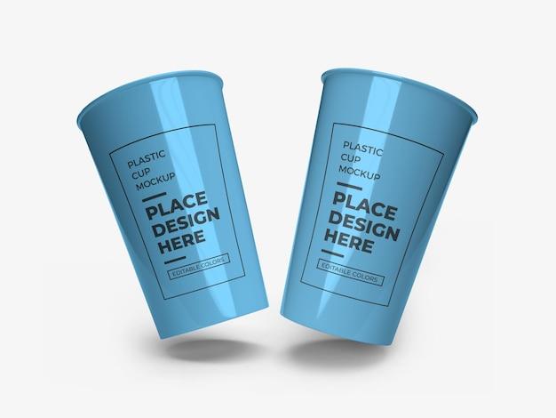 Maquette d'emballage de gobelet en plastique