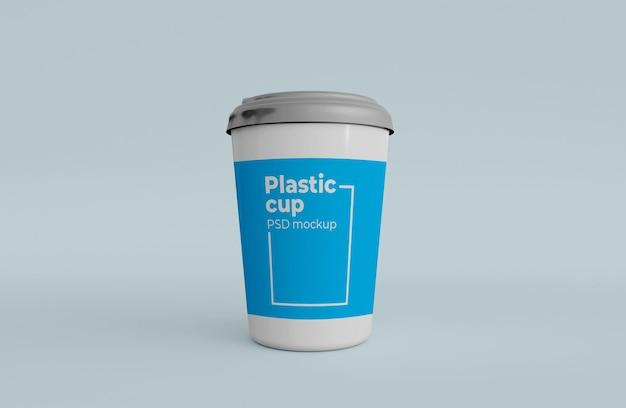 Maquette d'emballage de gobelets en plastique