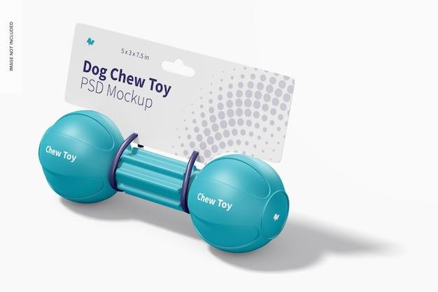 Maquette d'emballage de jouet à mâcher pour chien barbell
