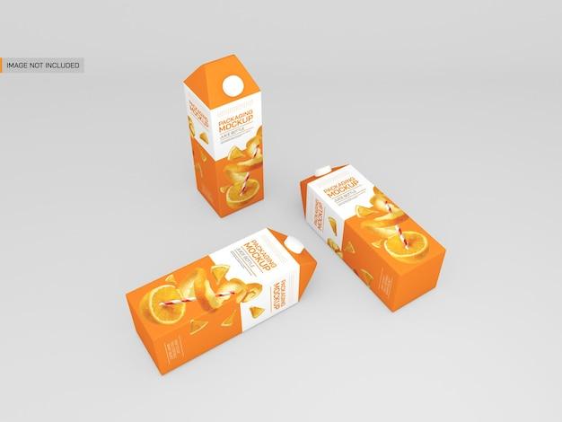 Maquette d'emballage de jus