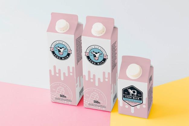 Maquette d'emballage de lait