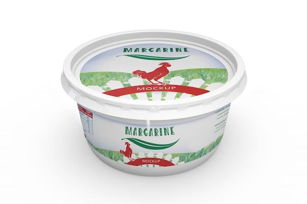 Maquette d'emballage de margarine