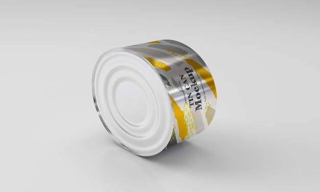 Maquette d'emballage en métal