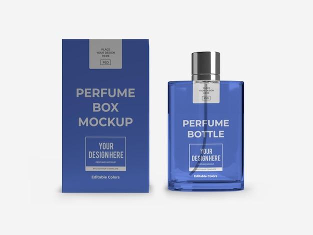 Maquette d'emballage de parfum isolée