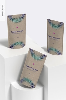Maquette d'emballage de pochettes en papier