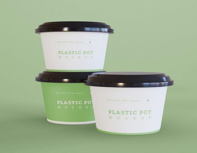 Maquette d'emballage de pot